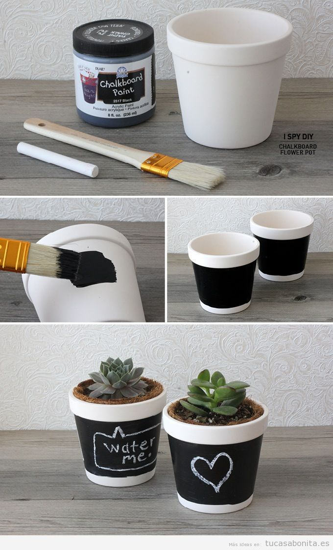 Tutorial jarrones y maceteros DIY para decorar tu casa o piso 2