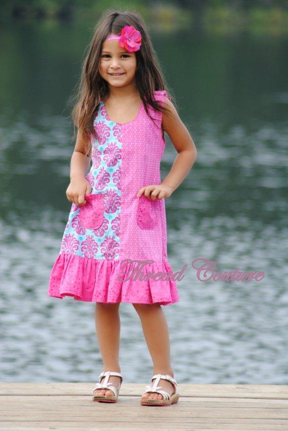 ecc765cbeef Kids Dress Pattern, Girls Dress Sewing Pattern , Brianna Paneled ...