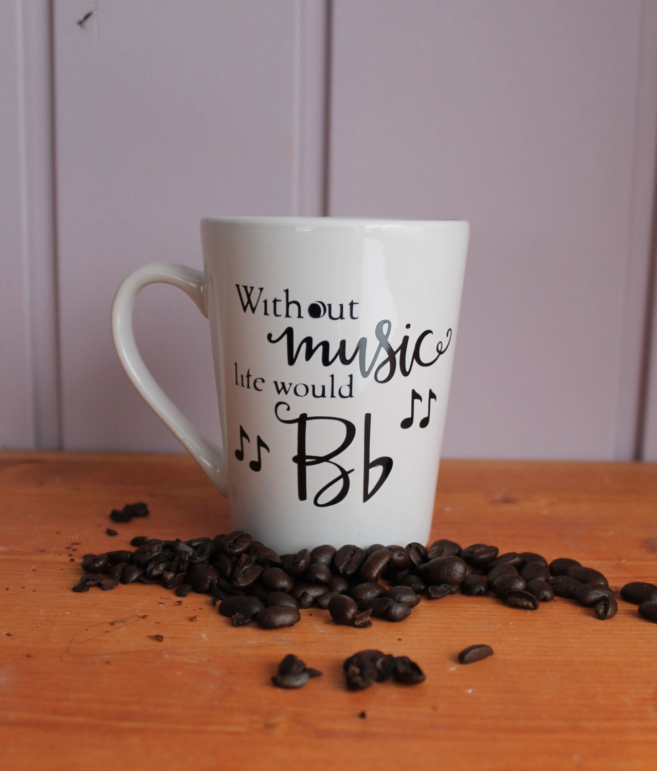 Music Lover Mug, Funny Mugs, Music Note Mug, Music Teacher Gift ...