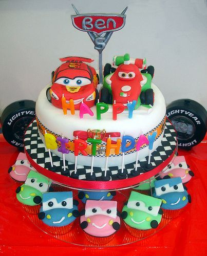 Love These Cupcakes Cars Birthday Party Ideas Pinterest - Birthday cake cars 2