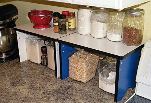 Kitchen Countertop Small Shelf Space Saver Organizer Stackable Amazon Best Buy Kitchenorganizeri Wood Shelves Kitchen Kitchen Shelves Small Shelves