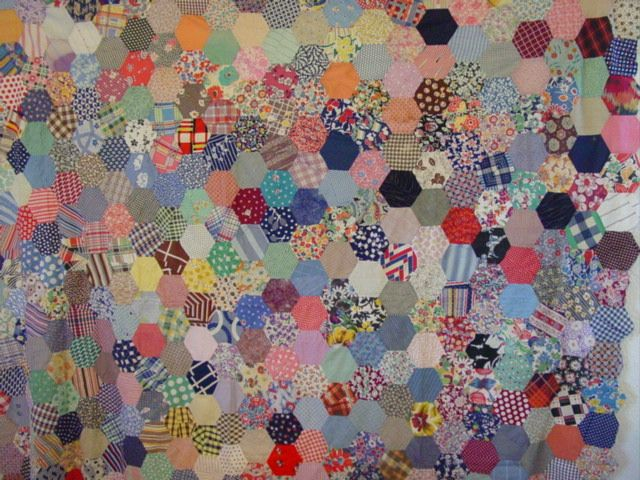 Hexagons Vintage Quilt Top | Cindy Rennels Antique Quilts | Quilts ... : vintage quilt tops - Adamdwight.com