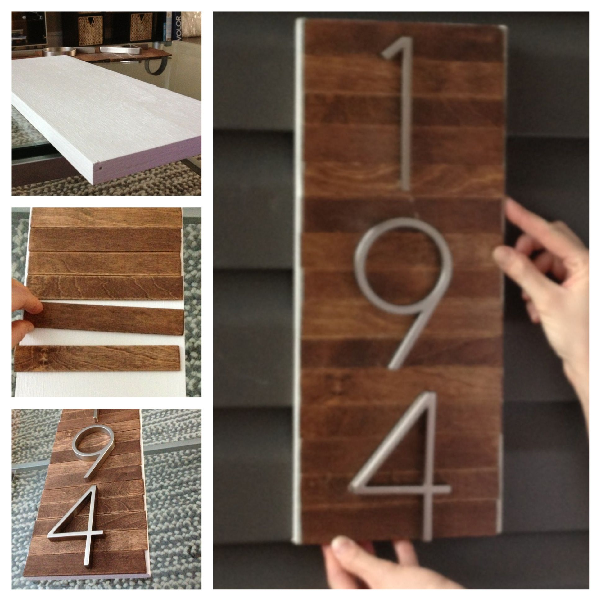 WE could put pretty numbers on a beautiful board. DIY