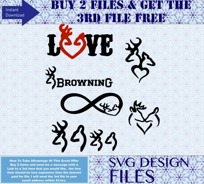 Deer SVG, Deer Antler Family Instant Download for