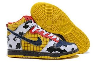 big sale 1b7e7 b1bc8 Unique Nike SB Dunk Toy Story Pattern Sheriff Woody Nikes High