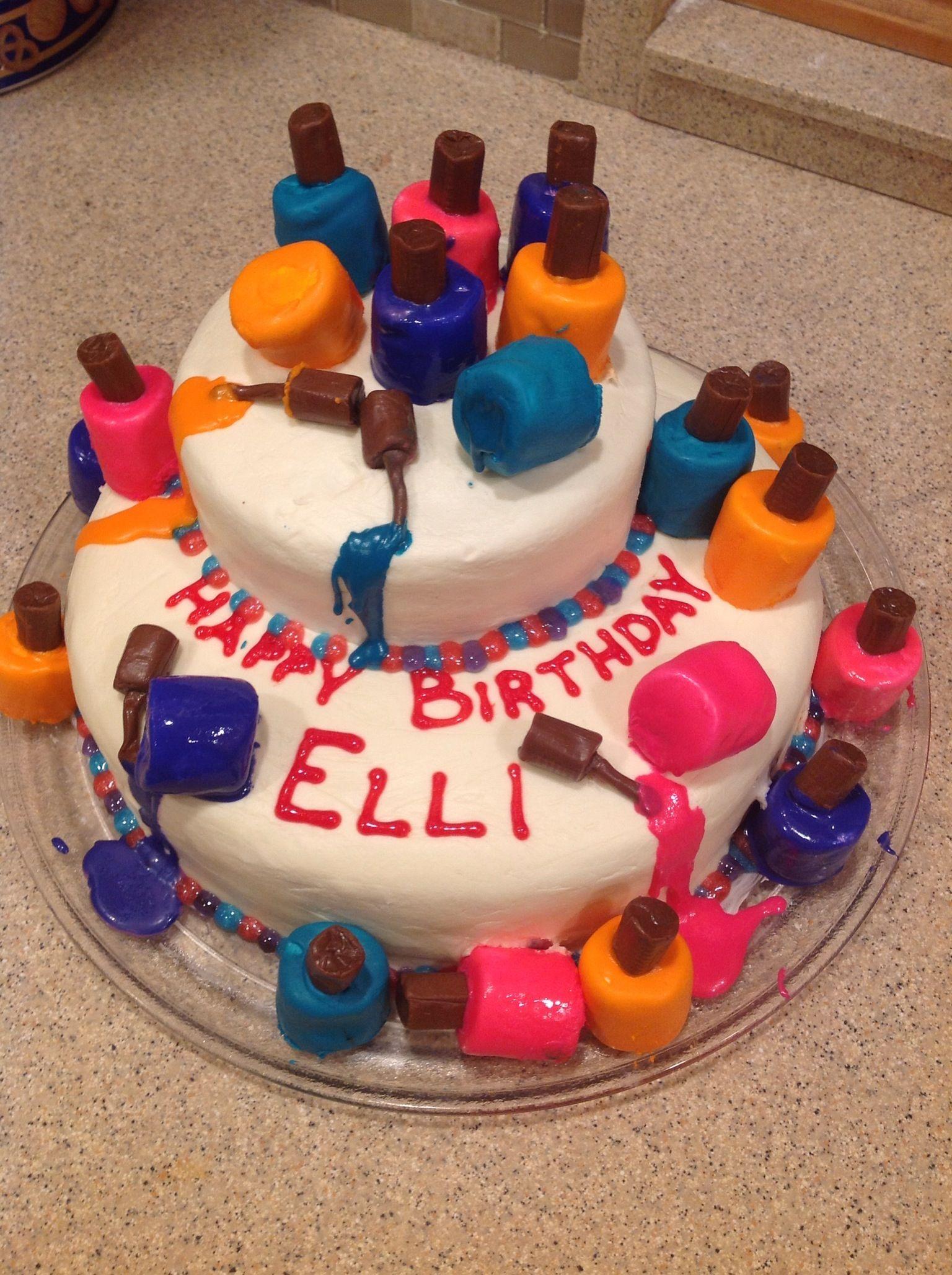 Nail Polish Marshmallow Cake Cake Things Pinterest Marshmallow