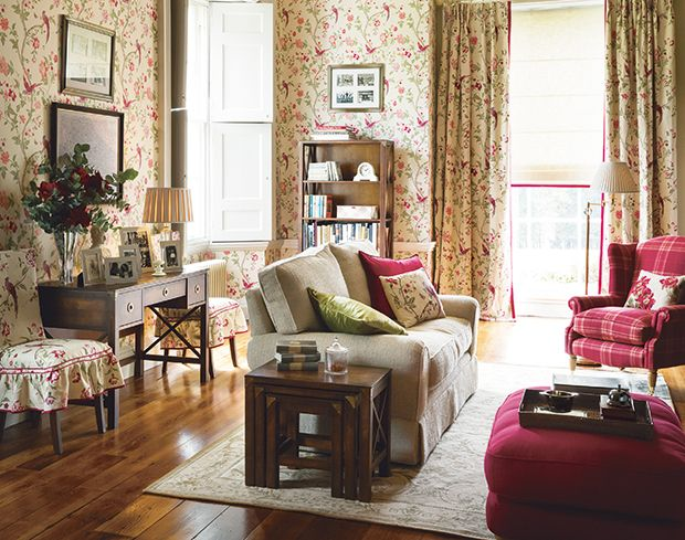 Laura ashley summer palace fabric google search for Laura ashley living room ideas