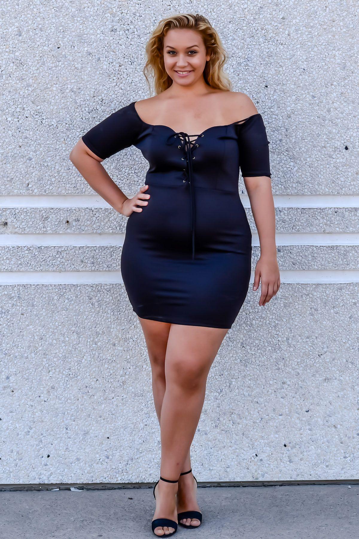 Plus Size Women Mini Dresses