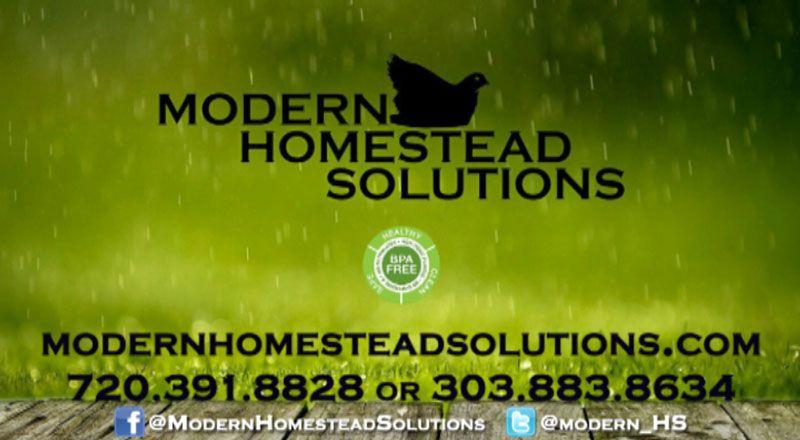 Modern Homestead Solutions, Rain Harvesting and Water Storage We ...