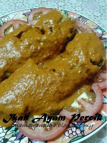 Dari Dapur Madihaa Ikan Ayam Jebong Percik Style Terengganu