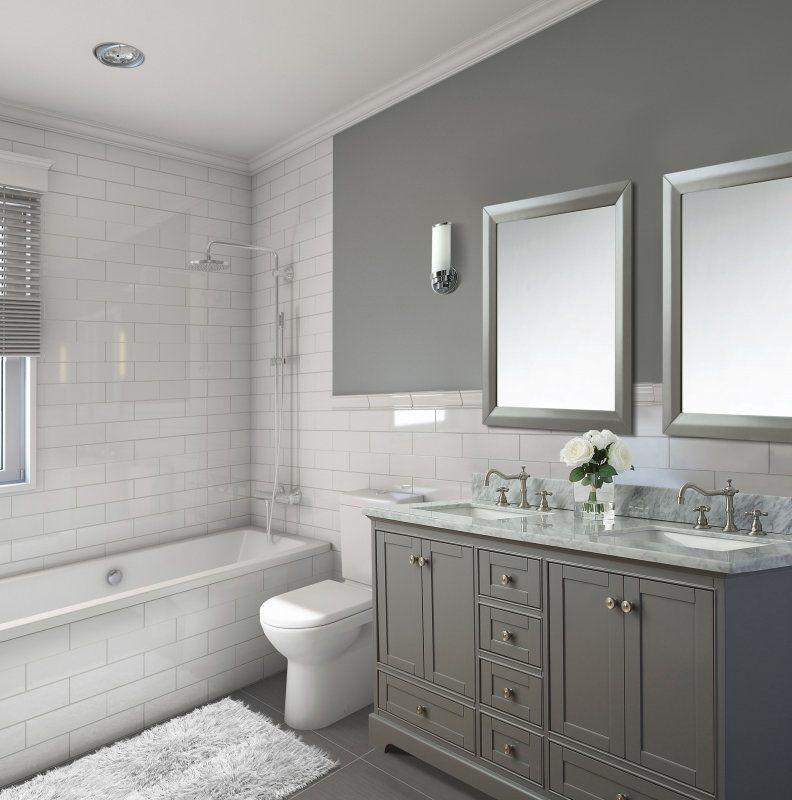 The Ultimate Guide To Buying A Bathroom Vanity With Images Double Vanity Bathroom Bathrooms Remodel Half Bathroom Remodel