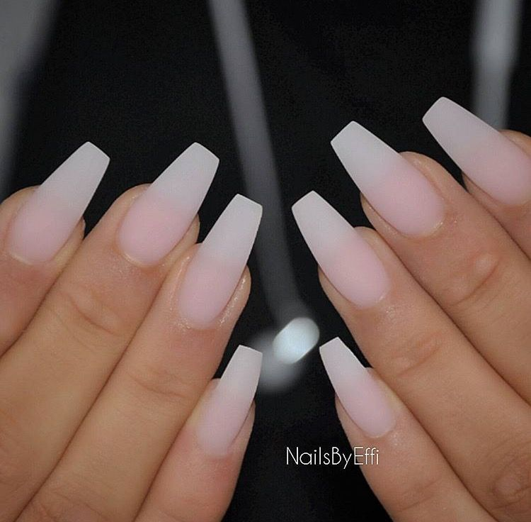 Pin By Kiki T On Nailed It Matte Gel Nails Faded Nails Ombre Acrylic Nails