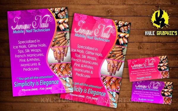 Nail Technician Found These Are Hot Junique Tech Business Cards And Flyers By Kyleturner