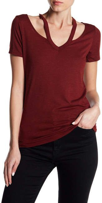 43ae49aa39fe56 Dex V-Neck Cold Shoulder Blouse - Under  30  shopping  ad  fashion  deals