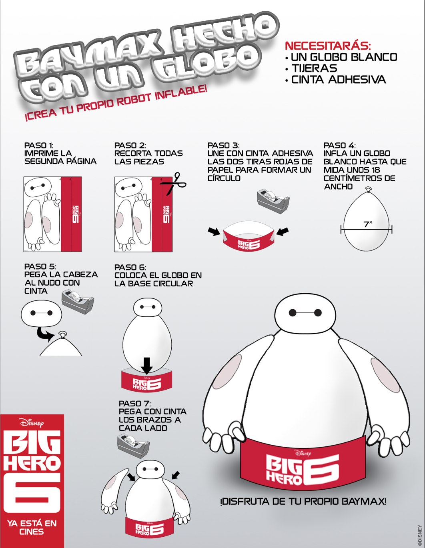 baymax-hecho-con-globo-big-hero-6.png 1,062×1,370 píxeles | Big ...