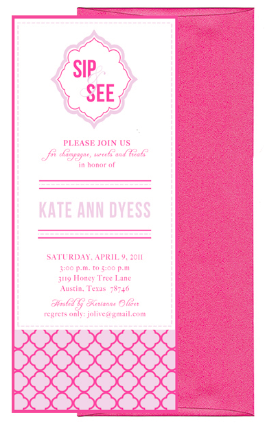Sip And See Invitation Wording Party