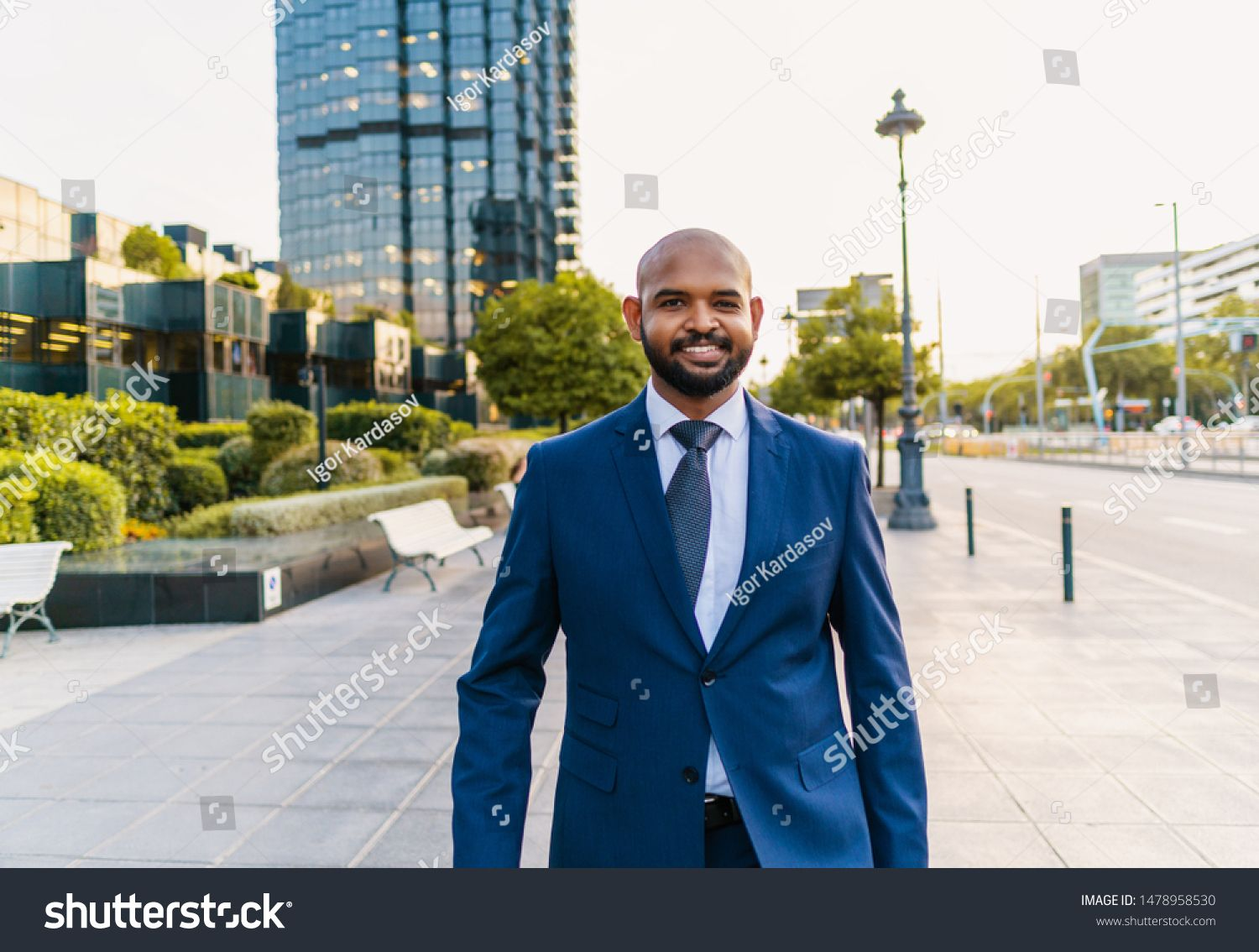 Indian Businessman Wearing Blue Suit Walking Near Office Or Hotel Business Concept Sponsored Sponsored In 2020 Blue Suit Double Breasted Suit Jacket Business Man