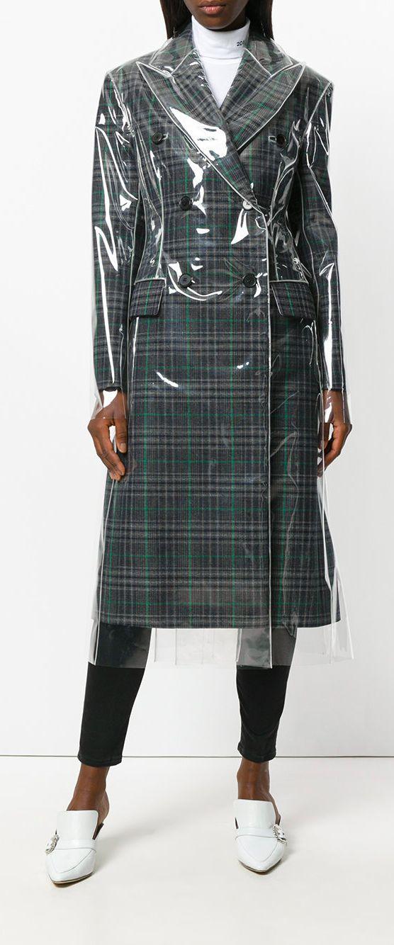 f25bc8d60ec680 CALVIN KLEIN 205W39NYC matte coated check coat