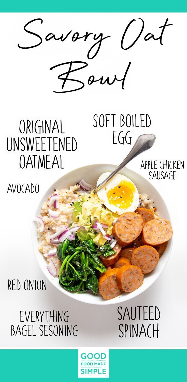 Savory Oatmeal Bowls  #saorybreakfast #savoryoatmeal #breakfast #oatmeal #oatmealbowl #fastbreakfast #egg #sausage #5minutebreakfast