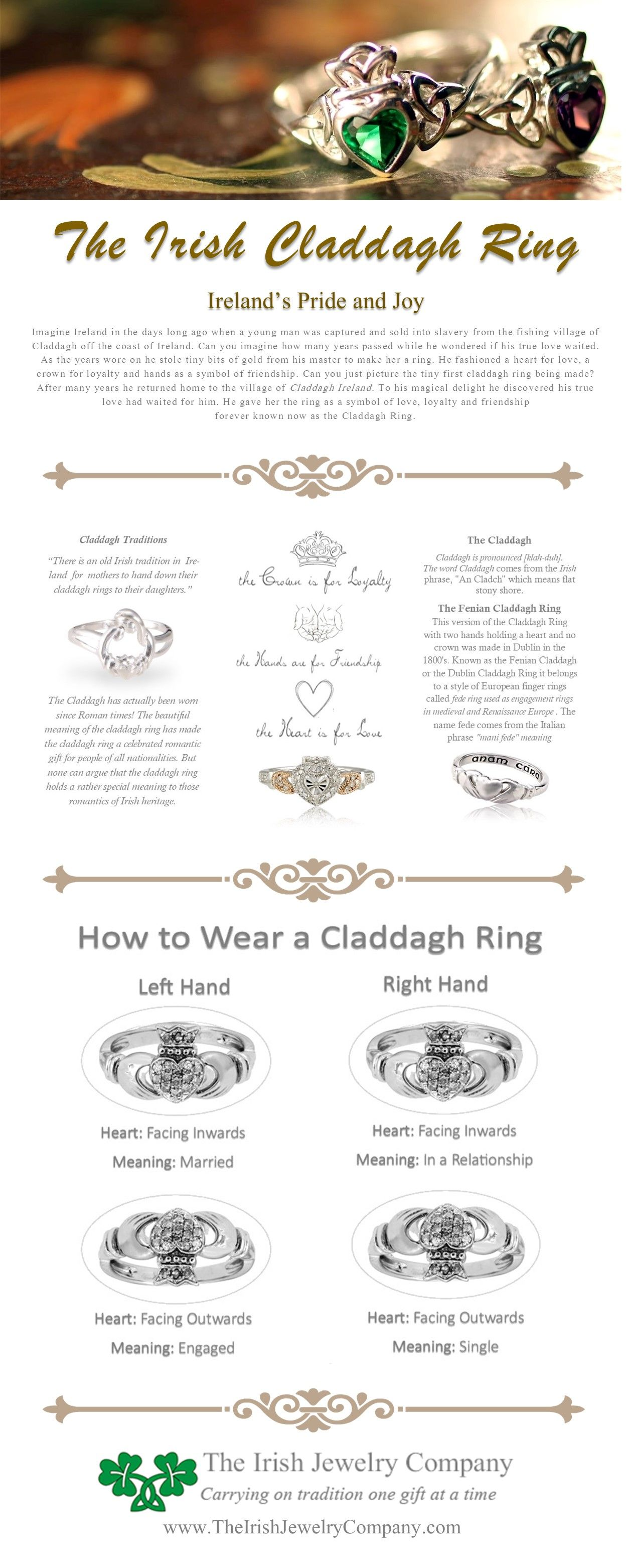The Irish Claddagh Ring Claddagh Rings Meaning Claddagh Rings Rings With Meaning