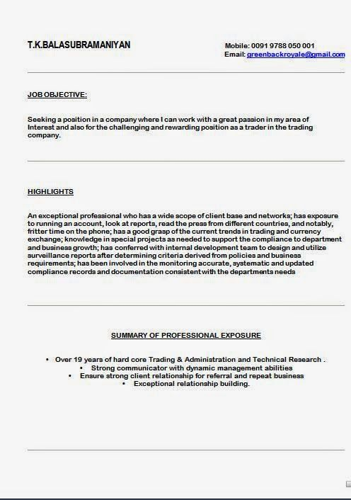 A Resume Sample Sample Template Example Ofexcellent Curriculum