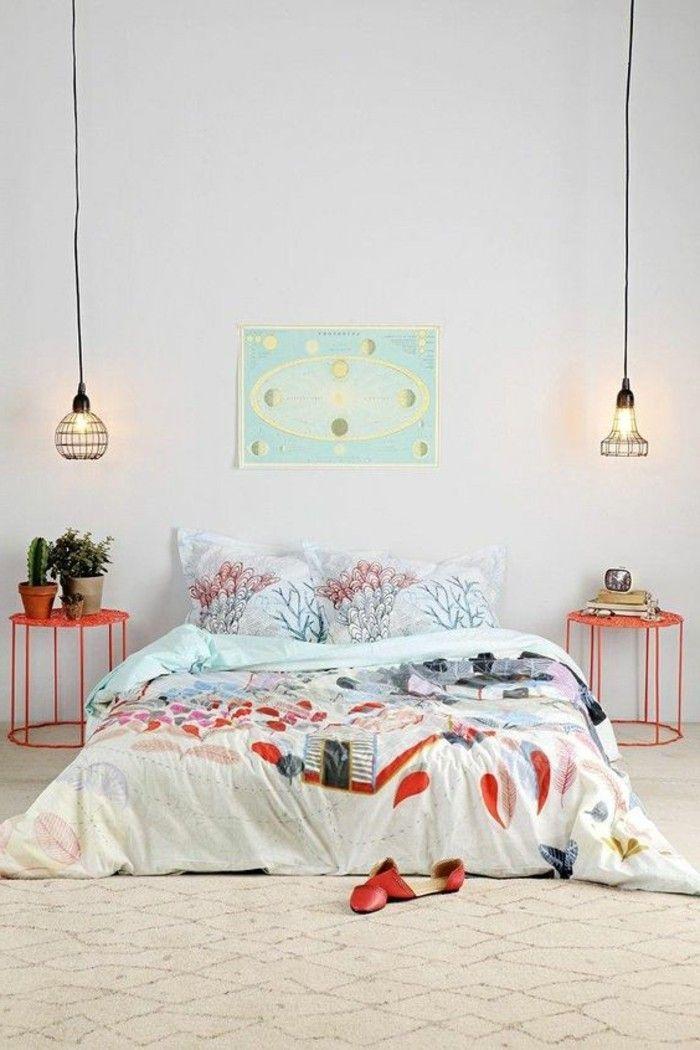 60 idées en photos avec éclairage romantique! | Couverture de lit ...