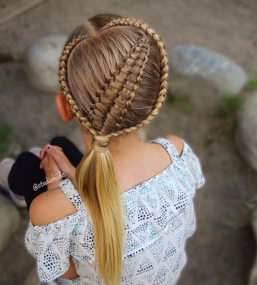 This mom taught herself how to braid her daughtersu hair hair