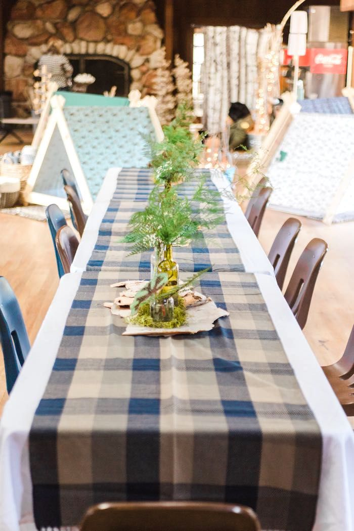 Rustic Camping Birthday Party Birthdays Birthday party table