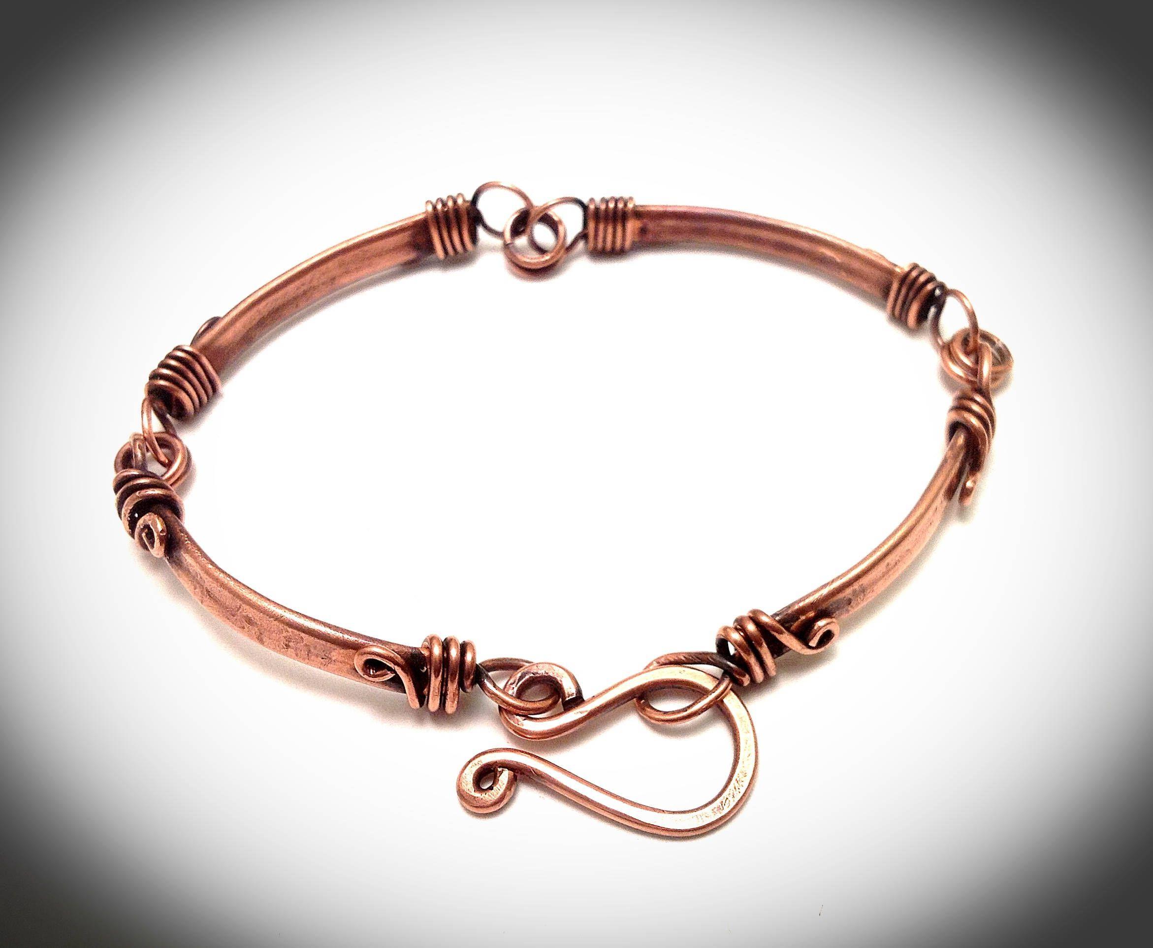 Copper bracelet. Bangle bracelet.Wire jewelry. Wire wrapped jewelry ...