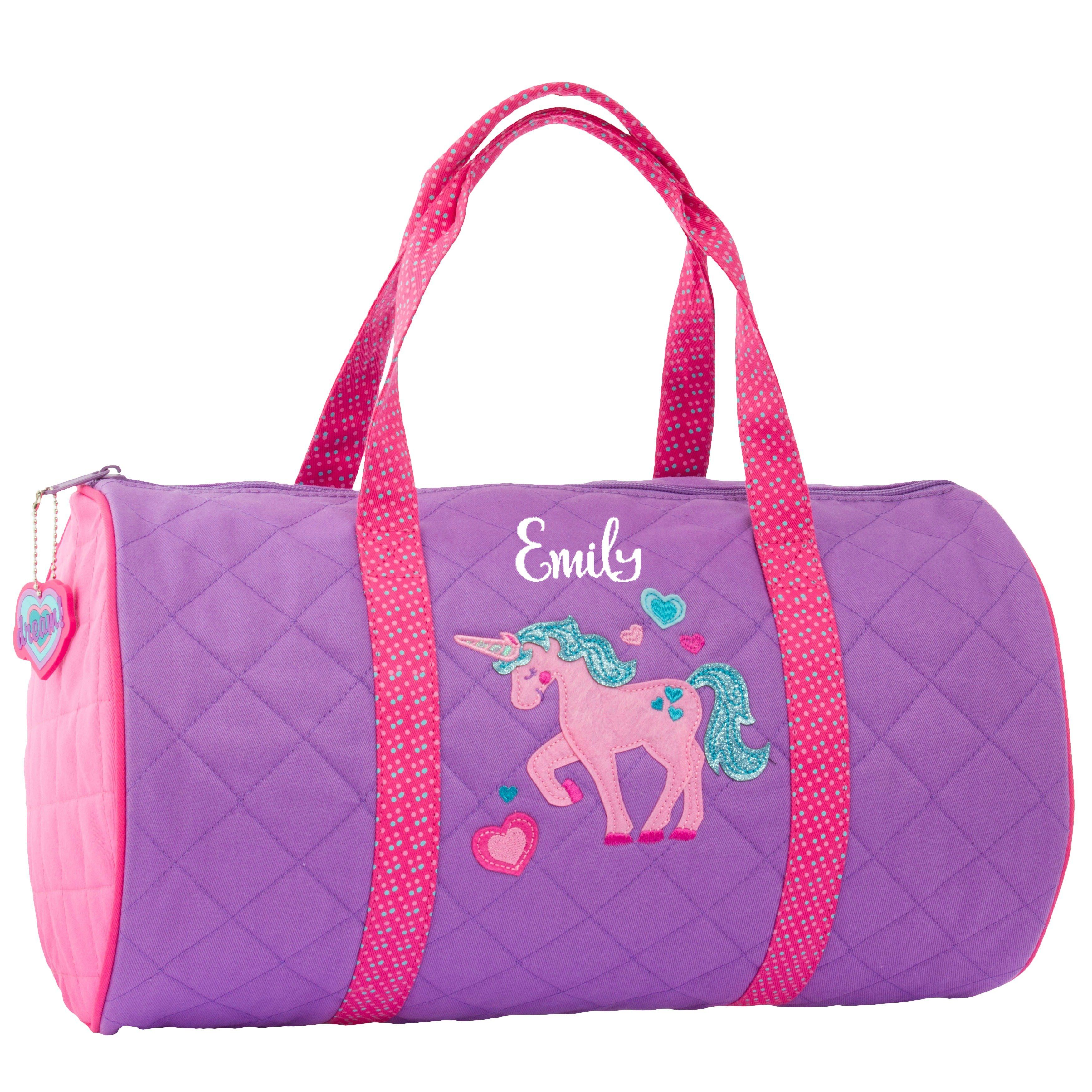 Personalized kids quilted duffle bags stephen joseph