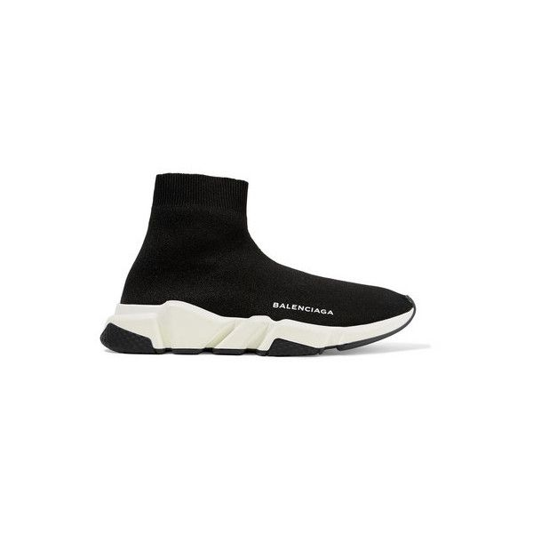 97eedfbe0fed BALENCIAGA Speed Runner Stretch-Knit High-Top Sneakers ( 750) ❤ liked on Polyvore  featuring shoes