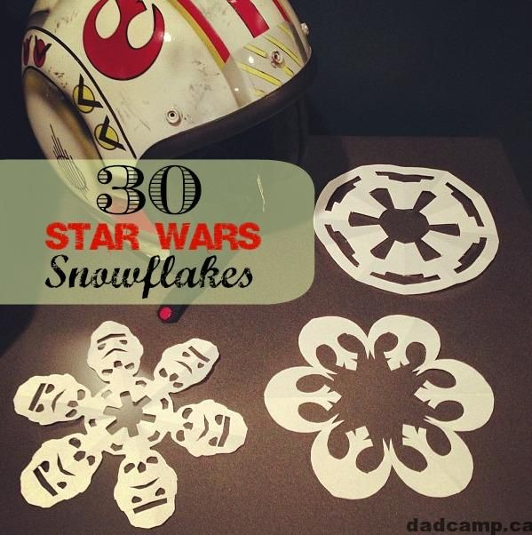 star wars snowflake template free  Check out these free printables of Star Wars Snowflakes ...