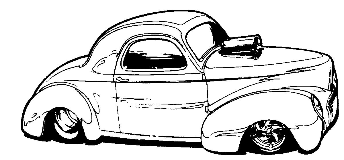 Pin By Pete Woods On Hotrod Clip Art Cool Car Drawings Art Cars Cars Coloring Pages