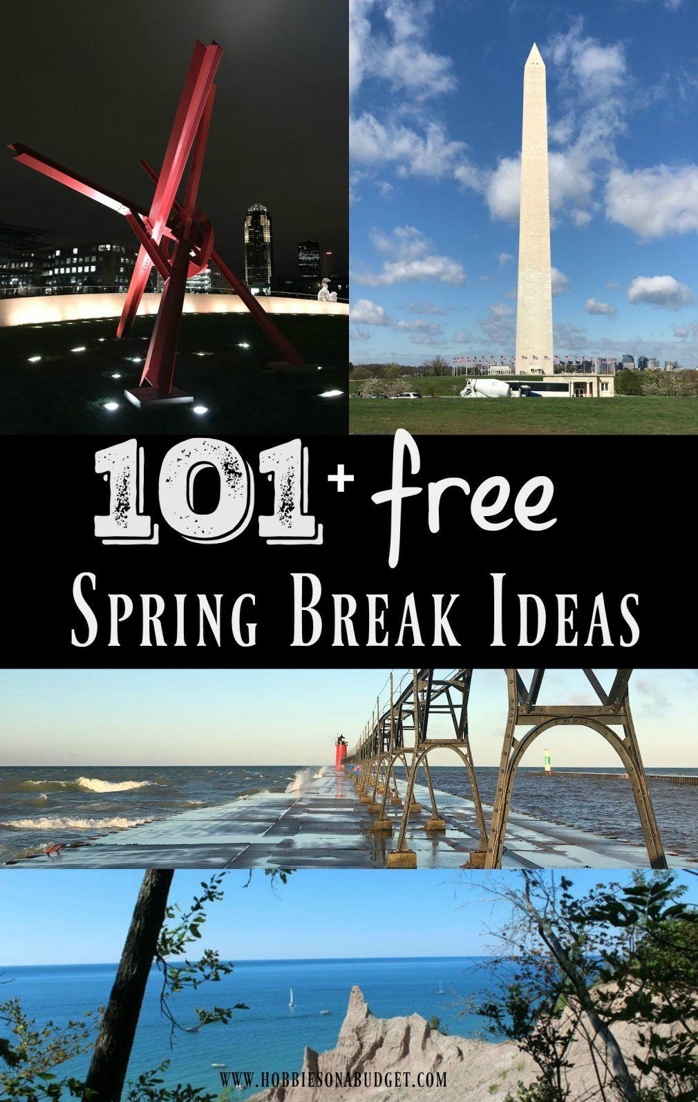 Spring Break 2019 Travel Ideas 101+ FREE Spring Break Ideas for 2019   Budget Travel   Us road