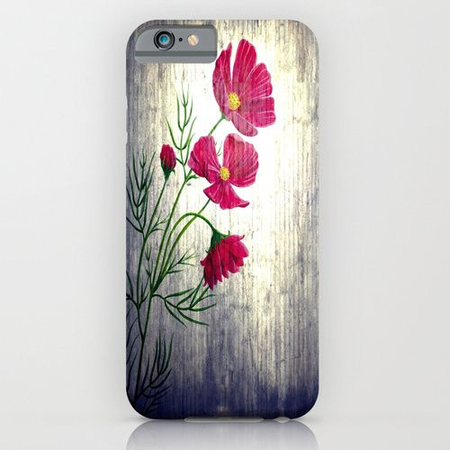 Smartphone Case - Painting Oil of Flower  - von Zierrat auf DaWanda.com