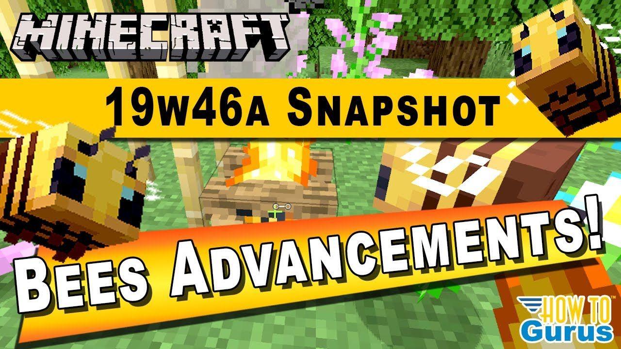 Minecraft Snapshot 19w46a New Update Minecraft Bees