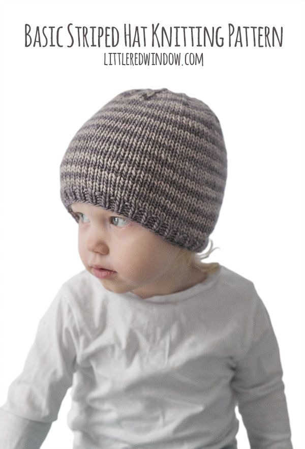 Easy Striped Baby Hat Knitting Pattern