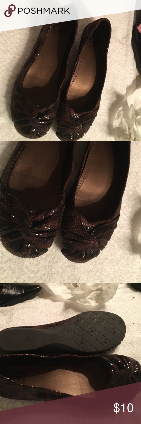 Selling this Gianni Bini Reptile Flats on Poshmark! My username is: dsf58. #shopmycloset #poshmark #fashion #shopping #style #forsale #Gianni Bini #Shoes