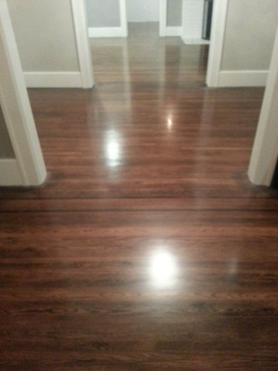 Diy refinishing hardwood floors ebony red mahogany mix on for Redoing hardwood floors