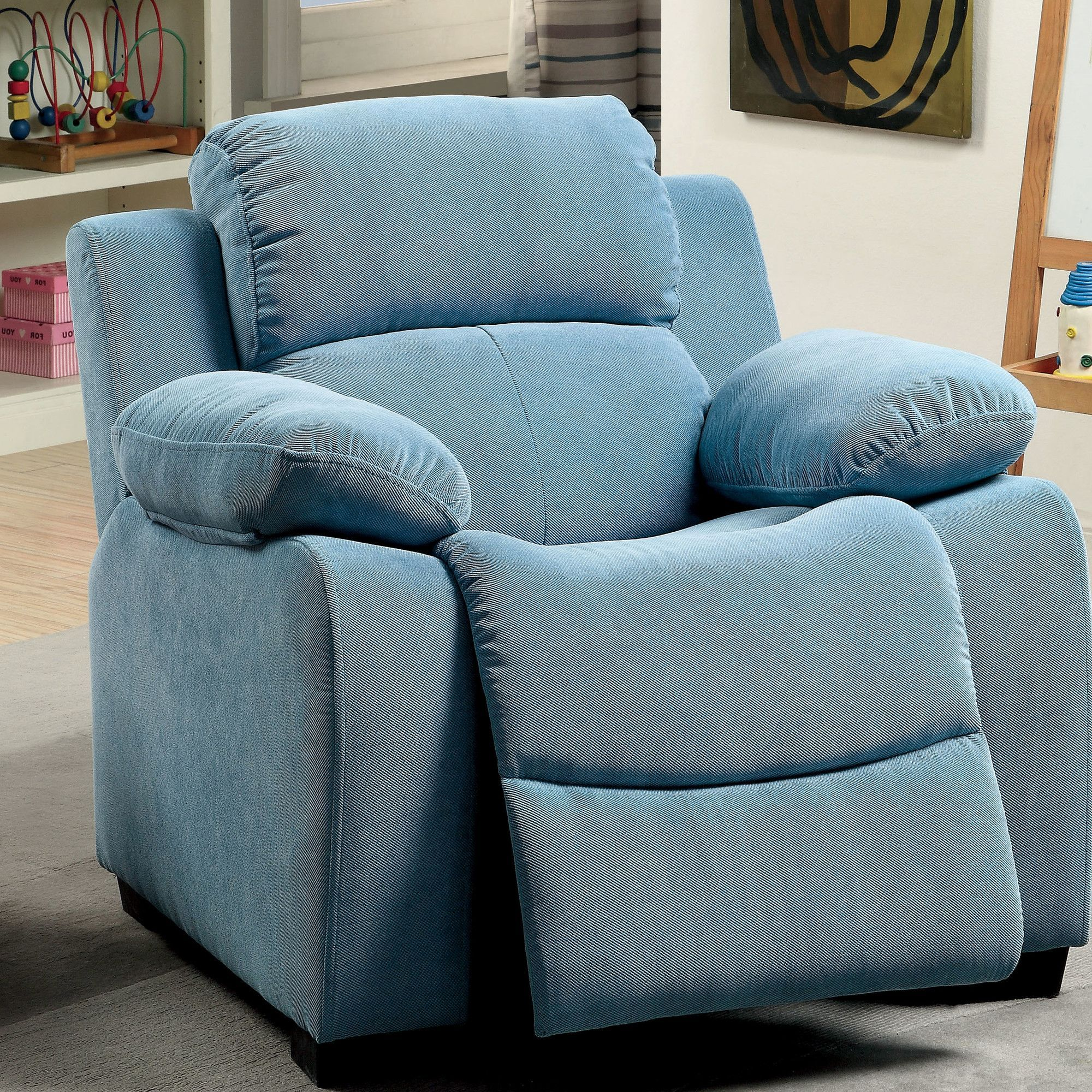 Cinco Bayou Kids Recliner with Storage partment