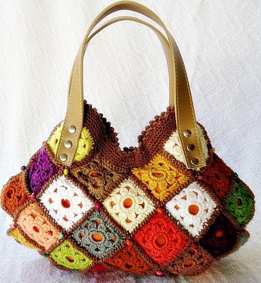 Bolsa De Mão Em Crochet : Bolsa de m?o em croch? confeccionada artesanalmente