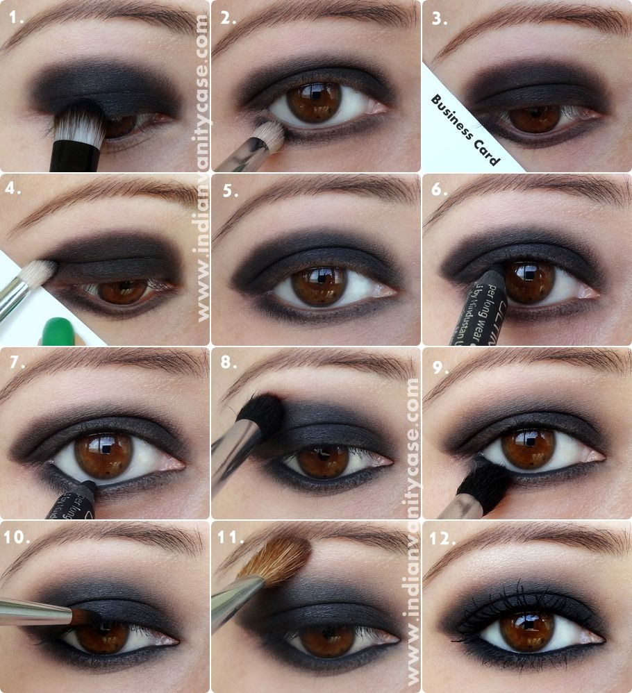 Indian Vanity Case: Black Smokey Eyes Tutorial I am OBSESSED with black  eyeshadow, and this is a pretty easy step-by-step.