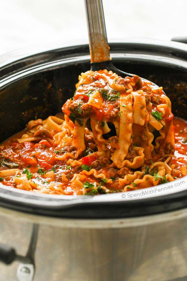Crockpot Lasagna Soup Is The Perfect Weeknight Dinner In