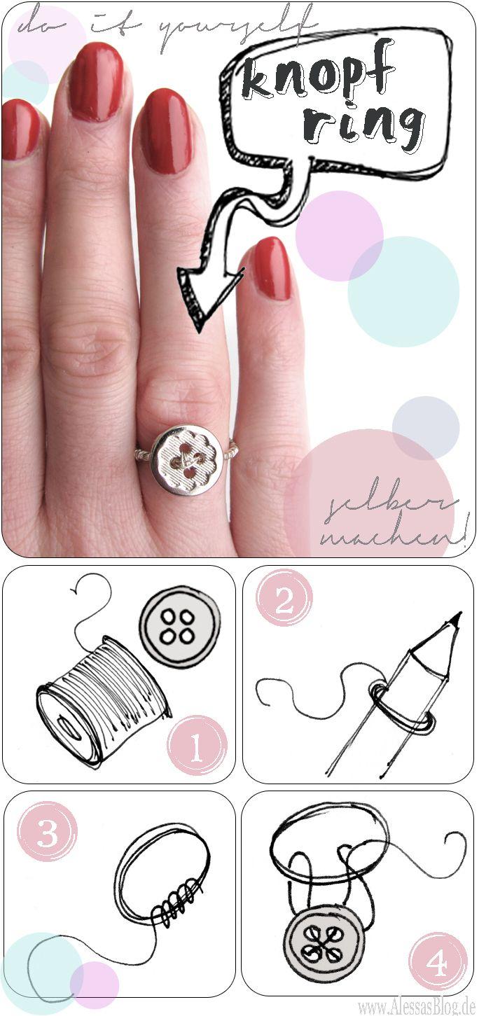 Alessa: {DIY} Knopfring aus Draht | schmuck knöpfe | Pinterest ...