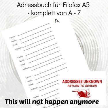 Adressbuch Rot Pdf Vorlage Zum Ausdrucken 13