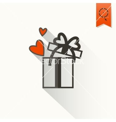 Happy valentines day icon vector love present by HelenStock on VectorStock®