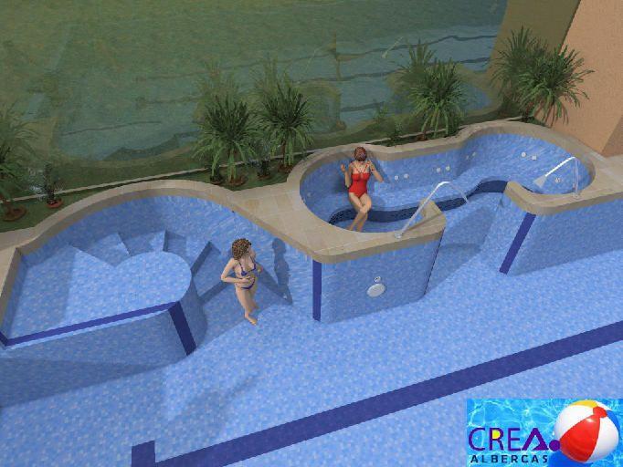Dise o virtual de albercas albercas pinterest for Piscinas estructurales chicas