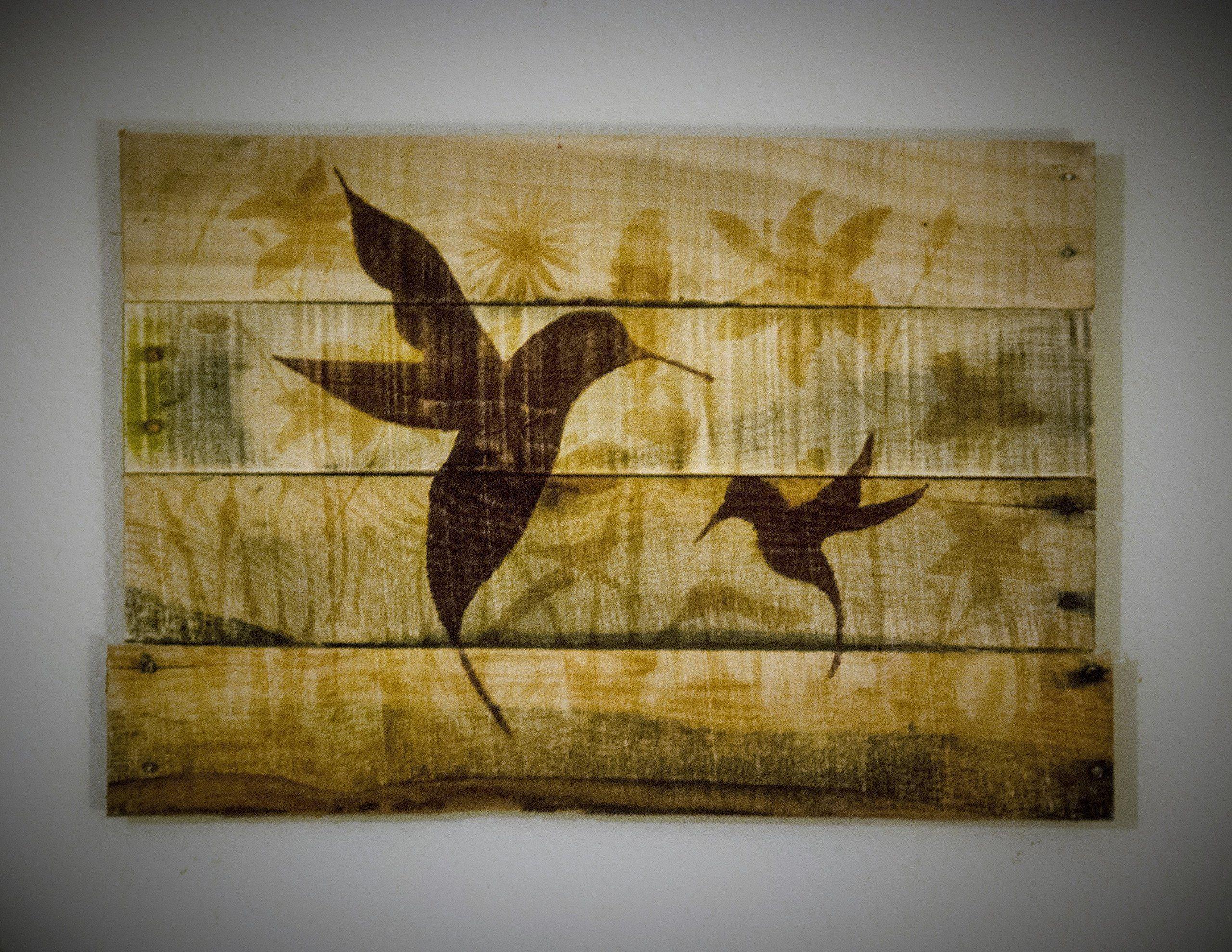 Hummingbird decor Hummingbird art Hummingbird painting Outdoor art ...