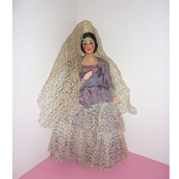 1950's Munecos Carselle - Spanish Doll - Composition -12 Tall - Vintage Beauty #spanishdolls