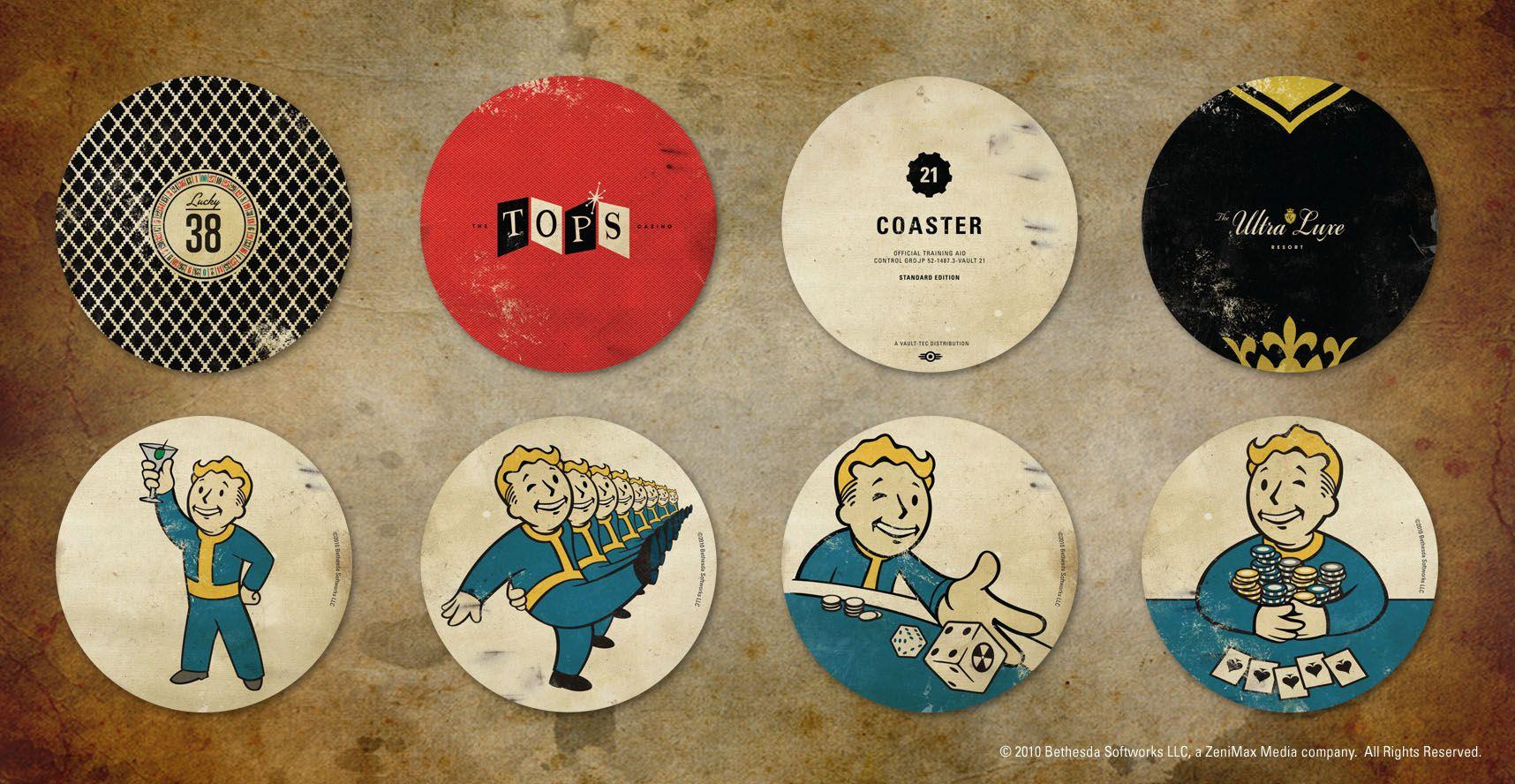Pin By Michael Kotiss On Fallout Fallout New Vegas Coaster Set Fallout